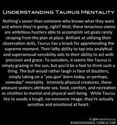 Understanding Taurus mentality