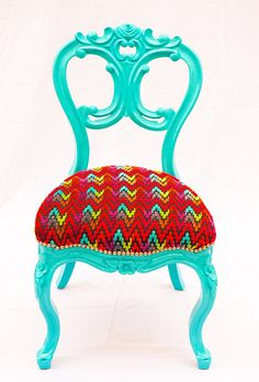 "This one is adorable! Check out ""The Divine Chair Company.""  They are in NYC and I think the Brooklyn Flea!  Really fun fun chairs.  Remember yours has to be tiny."