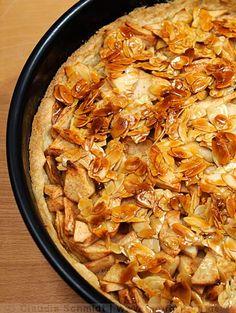 Apfelkuchen mit Mandelkrokant