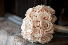 pale pink wedding bouquet