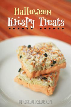 Halloween Krispy Treats | cupcakediariesblog.com