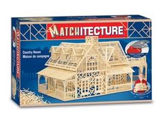 This Matchitecture Country House matchstick model kit includes everything needed to make this matchstick model kit.    Included are all the pre-cut card formers along with the glue, 2300 microbeams, microbeam cutter and tweezers and full instructions.  These instructions will guide you through each stage of the construction until you finally achieve the finished product.    We would highly recommend this Matchitecture Country House matchstick model Kit.