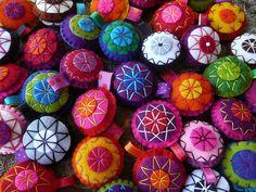 Felt disc ornaments
