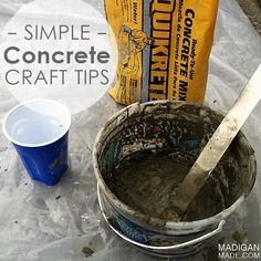 Simple tips for crafting with concrete. A cheap and easy way to make modern home accessories. I so want to try this!