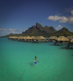 Floating over Bora Bora - shot with a drone camera quadcopter from DJI!