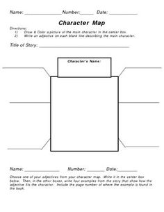 This character map may be used for multiple grade levels.  Students are asked to choose one character from a story, novel, etc. Using adjectives th...