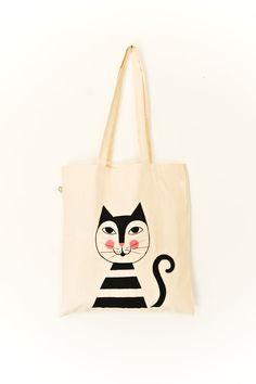 "Organic Cotton Tote Bag ""Moritz"" // handpainted.via Etsy."