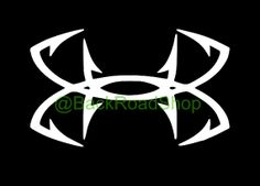 Under armour hunting antler vinyl decal for Under armour fish hook