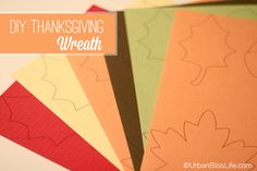 Thanksgiving Printable Craft, Home Decor | Thanksgiving printables | TodaysCreativeBlog.net