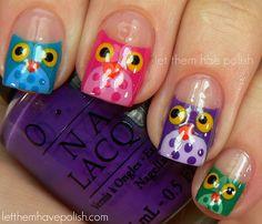nail owls tutorial