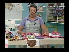 Tia Lili na TV: Avental e pano de copa em patchwork