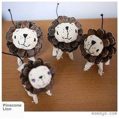 #Pinecone #Lion #craft -- rawr!