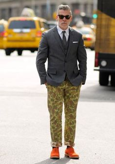 Check out those pants! Nick Wooster