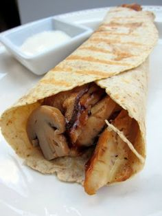 Chicken and Mushroom Wrap.