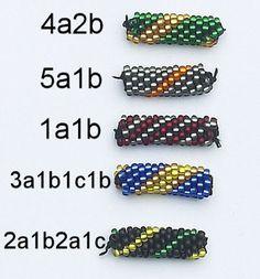 6 around in 5 different patterns.  Koraliki tudzież: Wzory sznurów szydełkowo-koralikowych