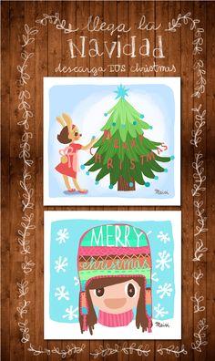 tarjeta de navidad gratis blog infantil petit-on