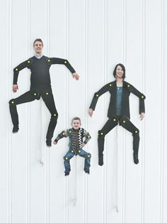 DIY Dancing Family Cut-Outs idea, craft, famili cutout, fun, sweet paul, families, danc famili, diy danc, kid