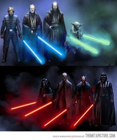 """""""The Sith and the Jedi are similar in almost every way, including their quest for greater power."""""""