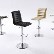 Kitts Bar Stool Medium Back Pu Leather With Gas Lift Bar Stools And