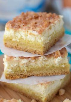 Crème Brulee Cheesecake Bars Recipe | Crazy for Crust