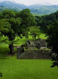 The mayan pyramids of Copán in western Honduras
