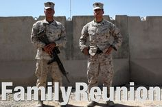Marine is reunited with his twin brother in Afghanistan