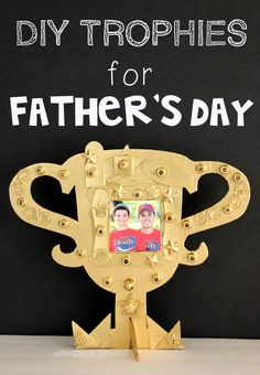 Kids Craft: DIY Father's Day Trophy - Happiness is Homemade