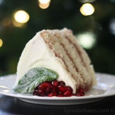 Pomegranate Cake with Cream Cheese Frosting