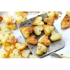 Delicious Roasted Potatoes. And the heart shape means I can cheat and make them for valentines day ;)