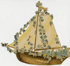 Sailboat with flowers :: Archives & Special Collections Digital Images :: circa 1910