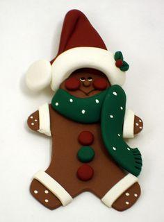 Gingerbread Man Ornament - so cute!