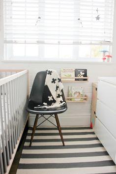 black and white tiny nursery
