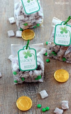 St. Patrick's Day muddy buddies (with free printable) ... we call it puppy chow