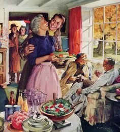 """""""After the Game"""" by Haddon Sundblom - United States Brewers Foundation, 1954"""