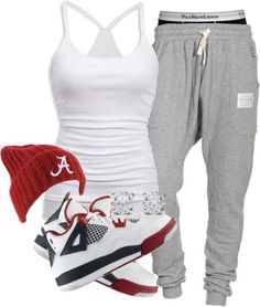 The outfit is cute for a kick back type of day