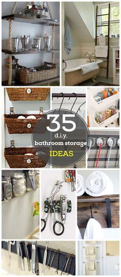 35 DIY Bathroom Storage Ideas To Help You Maximise Your Space