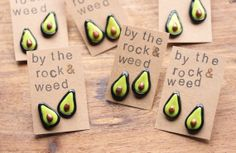 Avocados // Polymer Clay Post Earrings -