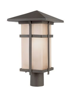 Trans Globe Lighting 40015 AR 18-Inch Mission Post Mount Lantern by Trans Globe Lighting. $226.10. A matching collection of classic outdoor landscape decor. Square frame and shade, with decorative strips. Angled roof give Asian inspiration. Great style.