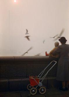 Fog on the Thames - London 1954