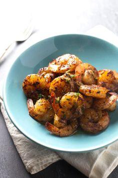 Orange Brown Butter Shrimp - | pinchofyum.com