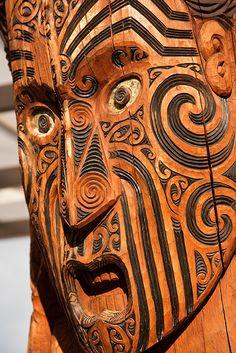 Maori Carving  Rotorua, New Zealand