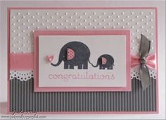 Stampin' Up! Baby Card. Elephant