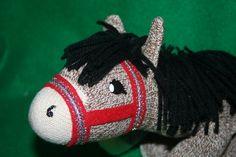 Handcrafted Sock Monkey Horse/Pony by SockMonkeyFarm on Etsy, $30.00