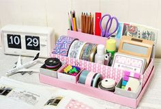 DIY organizer for makeup or desk supplies