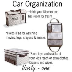 Thirty one car organizing.