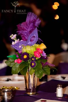 Mardi Gras Wedding floral by Bella by Sara