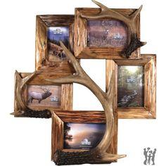 Deer Antler Decorating Ideas | NEW 5 PHOTO DEER ANTLER FRAME - Gifts for You 'n Me.com