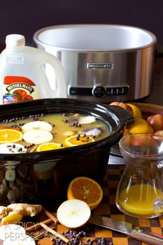 Making #SlowCooker Wassail Recipe (Mulled Cider) ASpicyPerspective.com #fall #apple #party #recipe Slowcooker