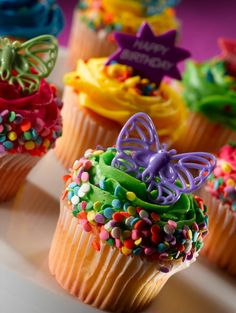 butterfly birthday cupcakes