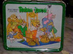 Aladdin industries Walt Disney movie Robin Hood metal lunch box $50
